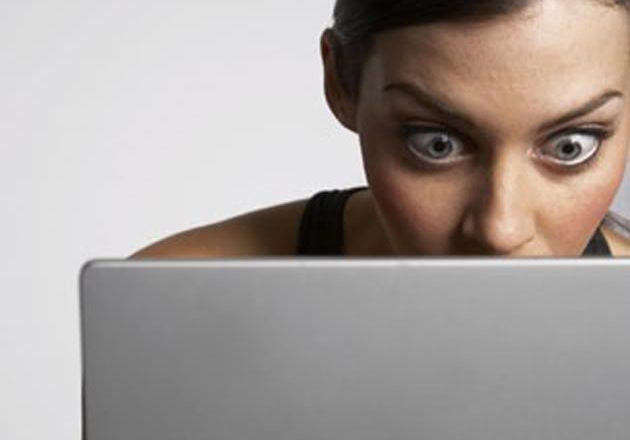 women snooping
