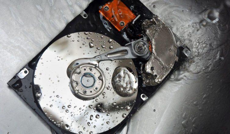 wet hard drive - water damage
