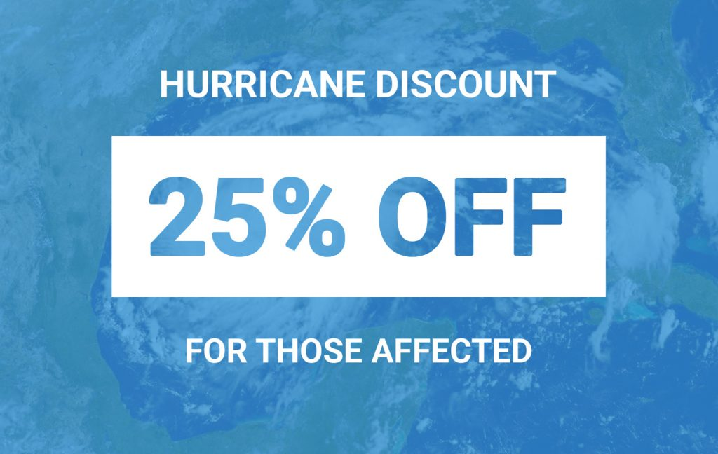 hurricane data recovery discount