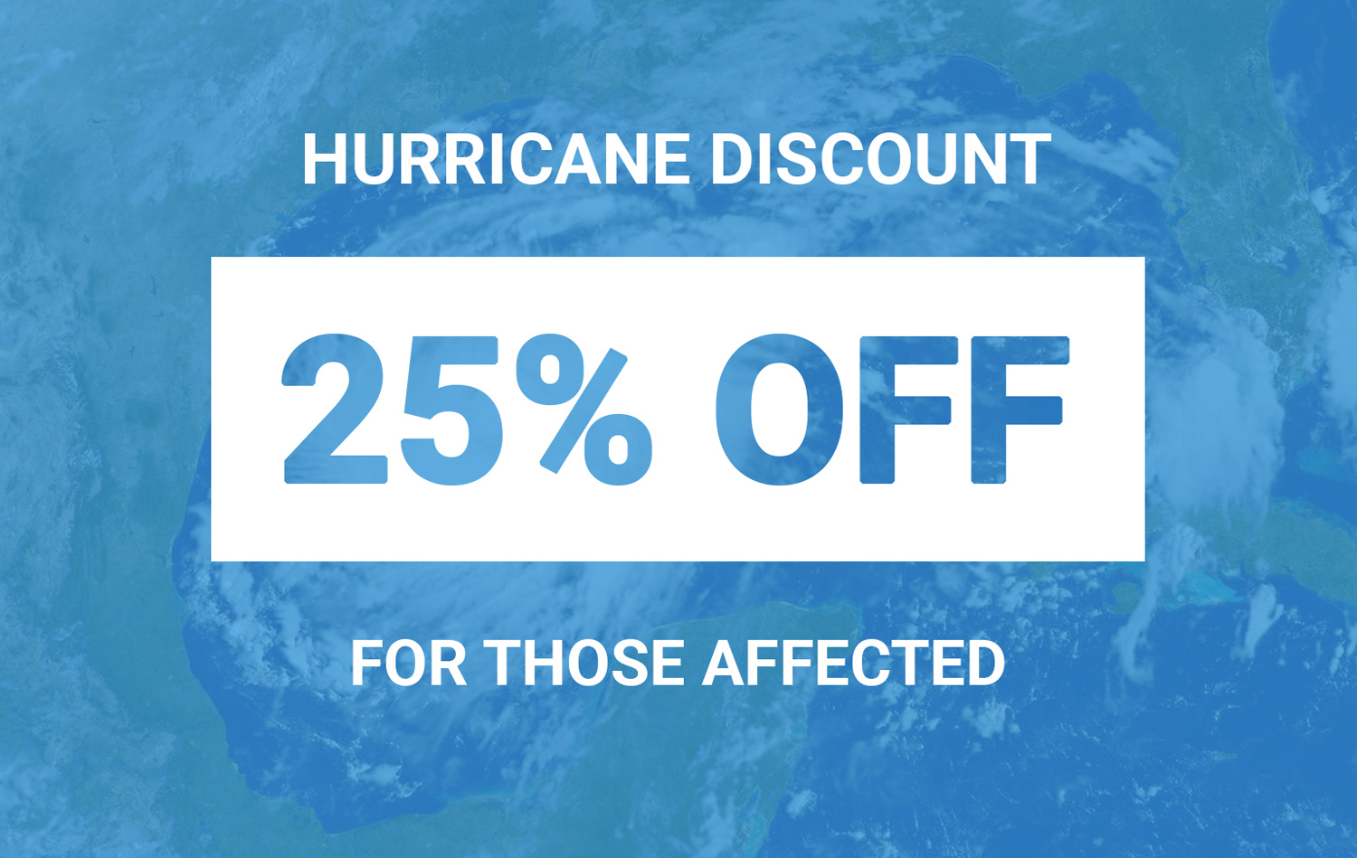 hurricane data recovery discount coupon 25%