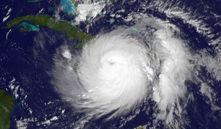 image of hurricane matthew aerial view