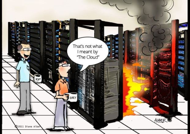 cartoon of a fire of raid arrays