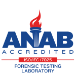 ANAB accredited forensic testing laboratory seal